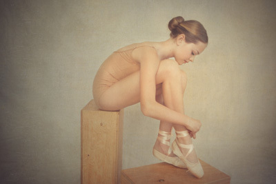 Art portrait of a young ballerina