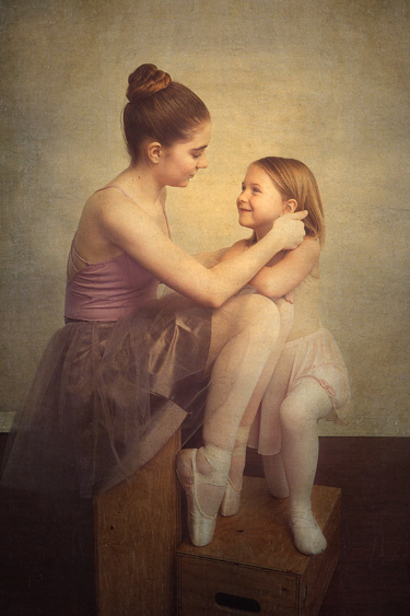 Two young ballerinas